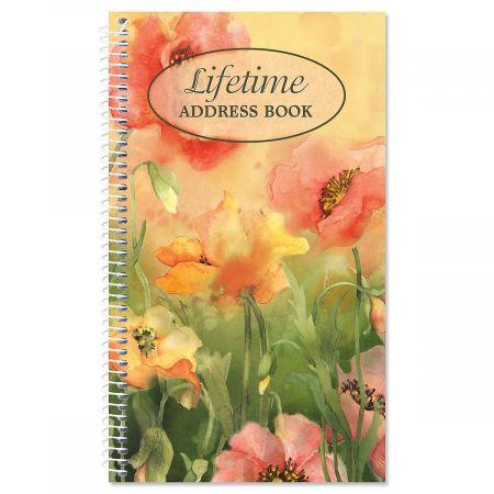 Poppies Lifetime Address Book