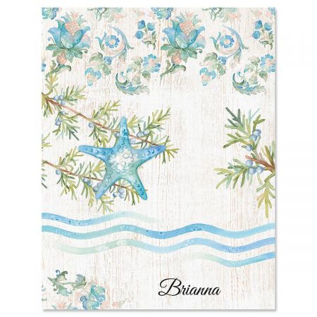 Ocean Tide Personalized Note Cards