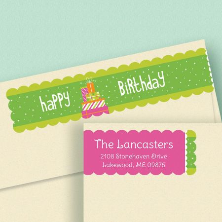 Happy Day Connect Wrap Diecut Address Labels  (4 Designs)