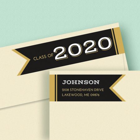 Graduation Day Connect Wrap Diecut Address Labels