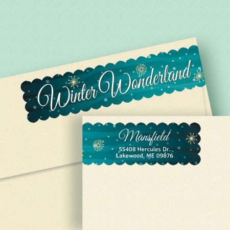 Winter Wonderland Connect Wrap Diecut Address Labels