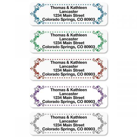 Flourish Rolled Return Address Labels  (5 Designs)