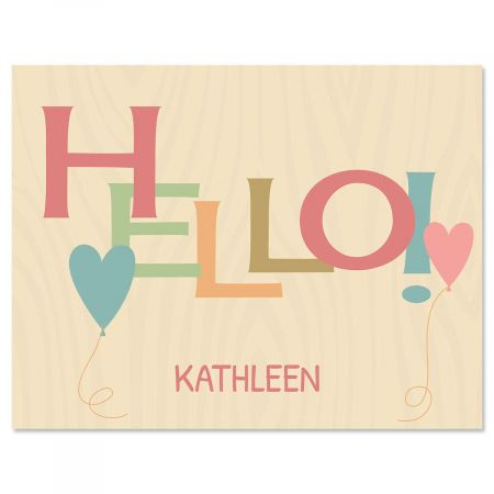 Natural Personalized Note Cards