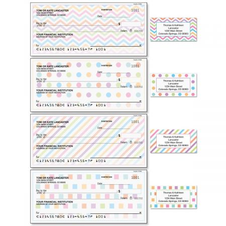 Graphix Single Checks with Matching Address Labels