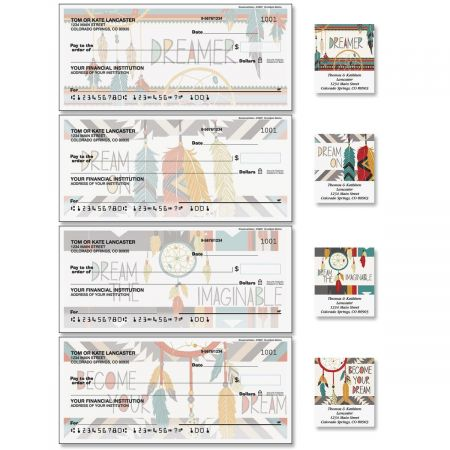 Dreamcatchers Single Checks with Matching Address Labels