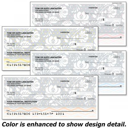 Gray Botanical Personal Checks