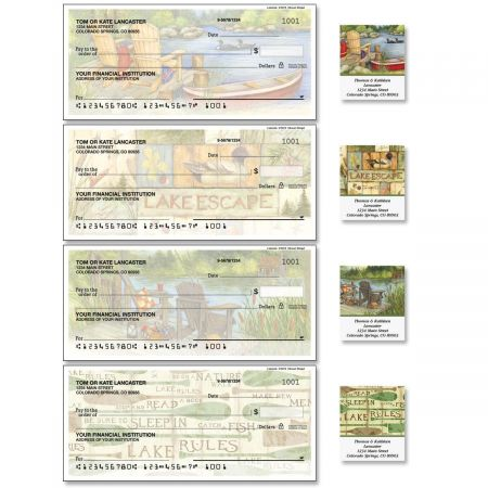 Lakeside Single Checks with Matching Address Labels