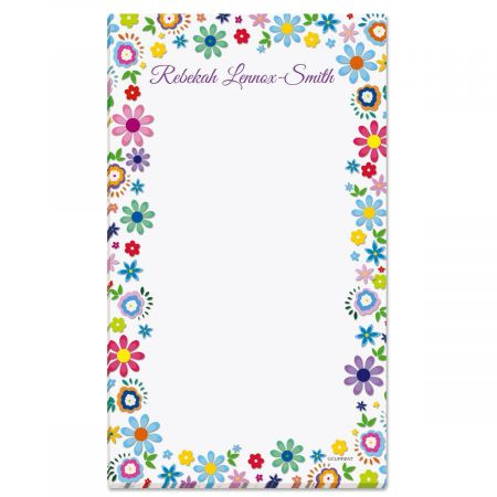 Cheerful Florals Custom Memo Pads