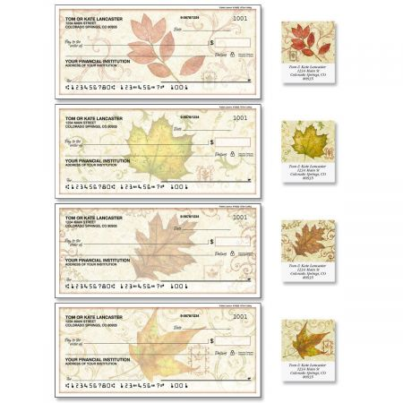 Fallen Leaves Single Checks with Matching Address Labels