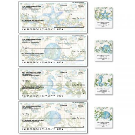 Ocean Tide Single Checks with Matching Address Labels