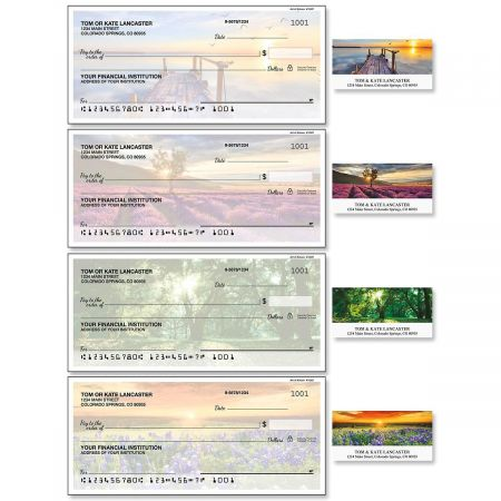 Art of Nature Single Checks with Matching Address Labels