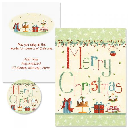 Christmas Treats Christmas Cards - Personalized