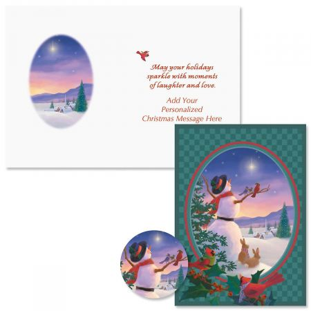 Star Light Christmas Cards - Personalized