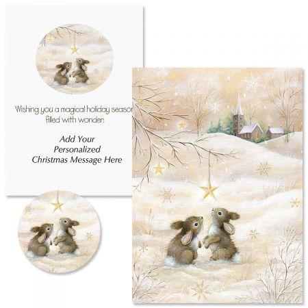 Snow Bunnies Christmas Cards