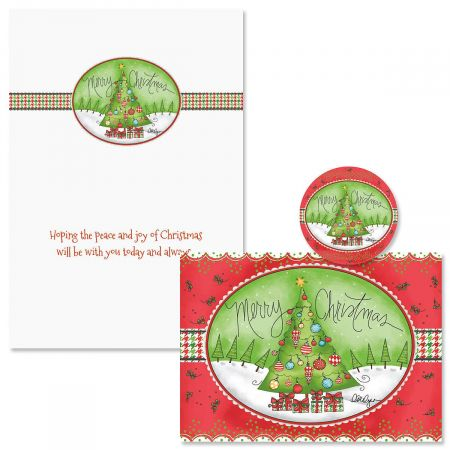 Holiday Houndstooth Christmas Cards - Nonpersonalized