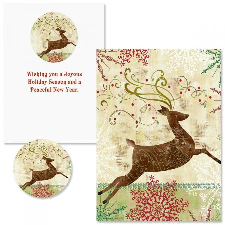 Regal Reindeer Christmas Cards - Nonpersonalized
