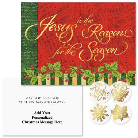 Joyful Season Christmas Cards - Personalized
