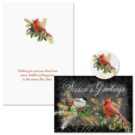 Birds and Boughs Christmas Cards - Nonpersonalized