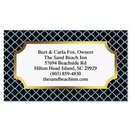 Diagonal Pattern Foil Business Cards