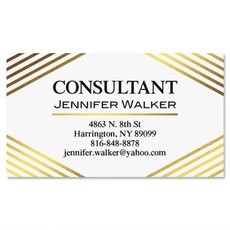 Advance Gold Foil Business Cards