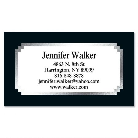 Black & Silver Foil Business Cards