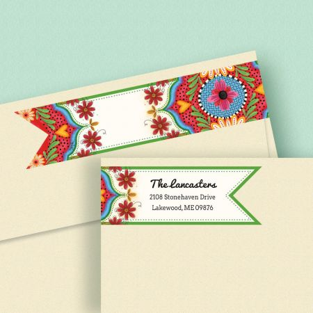 Spanish Flair Connect Wrap Diecut Address Labels