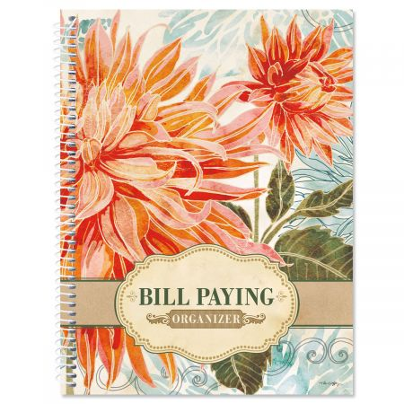 floral daydream bill paying organizer colorful images