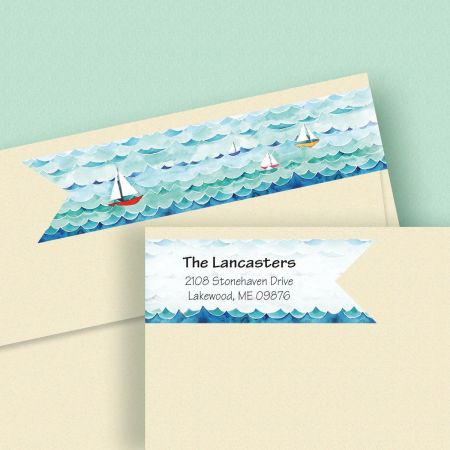 Sail Away Connect Wrap Diecut Address Labels