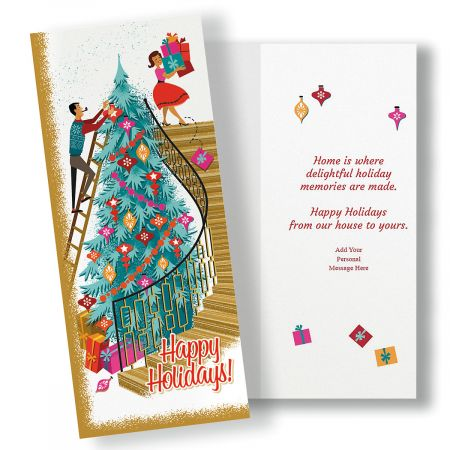 Holidays At Home Slimline Holiday Cards