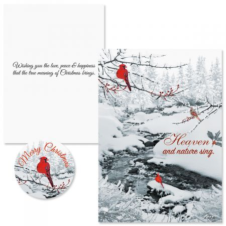 Heavenly Cardinals Christmas Cards