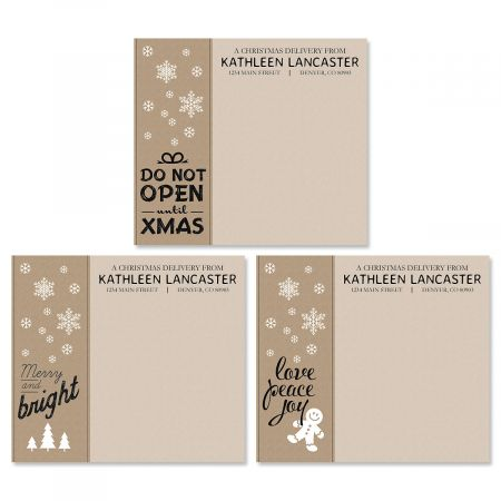 Christmas Delivery Package Labels (3 Designs)