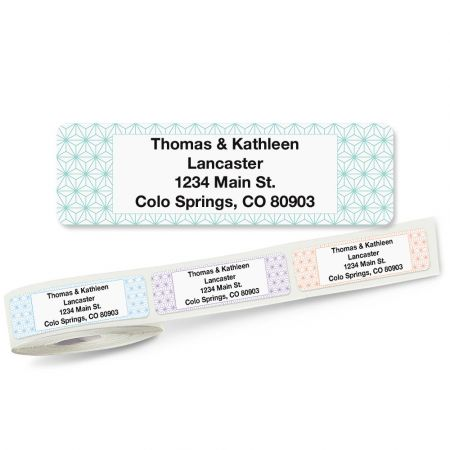Isometric Rolled Return Address Labels (5 Designs)