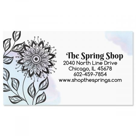Ebony Bloom Foil Business Cards