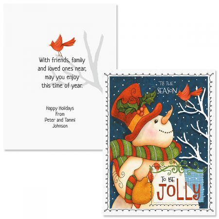 Be Jolly Note Card Size Christmas Cards