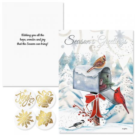 Special Delivery Foil Christmas Cards