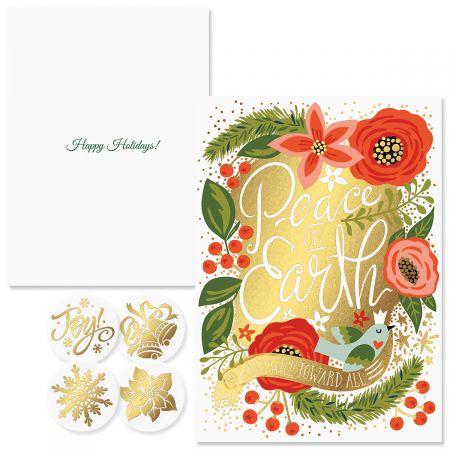 Peace on Earth Foil Christmas Cards