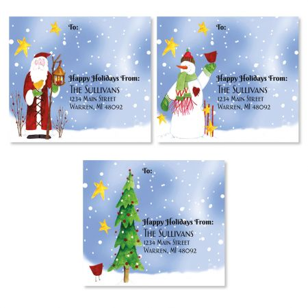Snowfolks Package Labels (3 Designs)