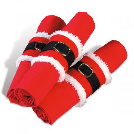 Santa Belt Napkin Holders
