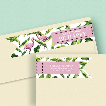 Kind & Lush Connect Wrap Diecut Address Labels (4 Sayings)