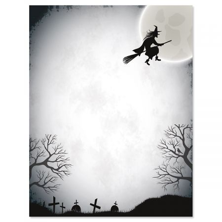 Over The Moon Halloween Letter Papers