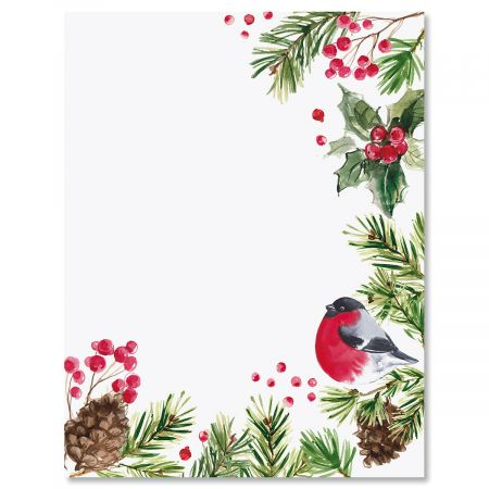 Splash of Holiday Christmas Letter Papers