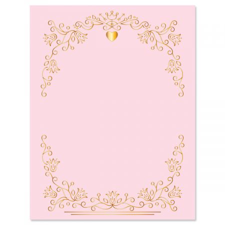 Gilded Romance Valentine's Day Letter Papers