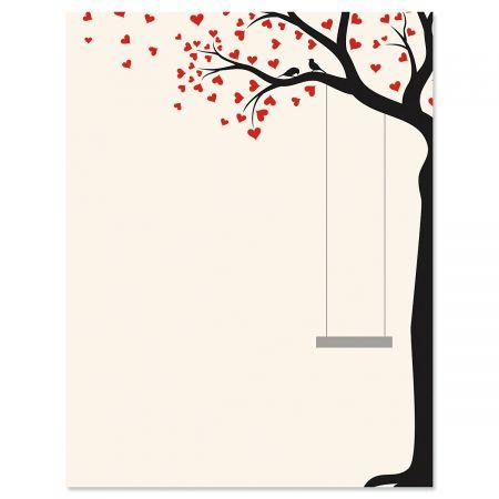 Heart Tree Swing Letter Papers
