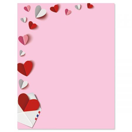 Paper Hearts Valentine's Day Letter Papers