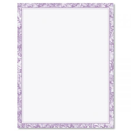 Purple Alluring Border Letter Papers