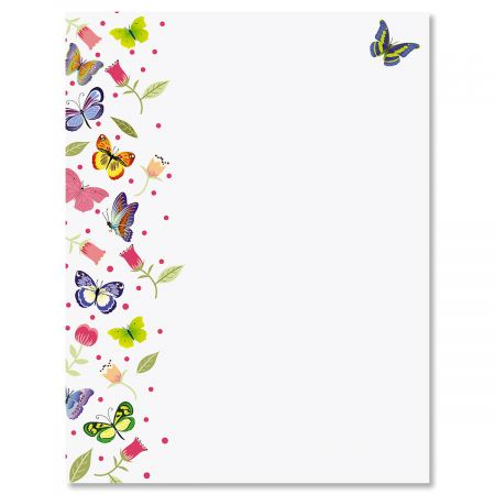 Butterflies Letter Papers