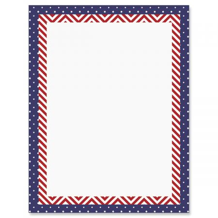 Patriotic Banner Patriotic Letter Papers