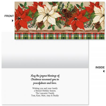 Boughs & Berries Slimline Holiday Cards