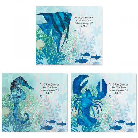 Coral Reef Package Labels (3 Designs)