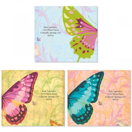 Fly By Butterfly Package Labels (3 Designs)